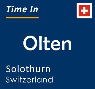 Current time in Olten, Solothurn, Switzerland