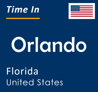 Current time in Orlando, Florida, United States