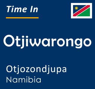 Current time in Otjiwarongo, Otjozondjupa, Namibia