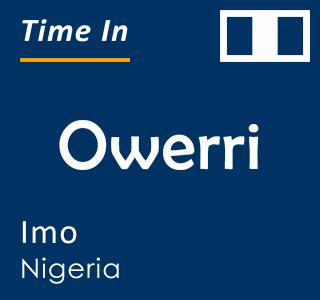 Current time in Owerri, Imo, Nigeria