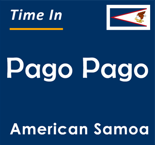 Current time in Pago Pago, American Samoa