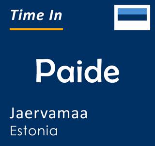 Current time in Paide, Jaervamaa, Estonia