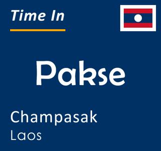 Current time in Pakse, Champasak, Laos