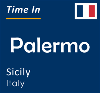 Current time in Palermo, Sicily, Italy