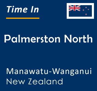 Current time in Palmerston North, Manawatu-Wanganui, New Zealand