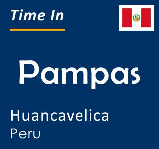 Current time in Pampas, Huancavelica, Peru
