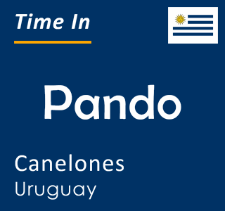 Current time in Pando, Canelones, Uruguay