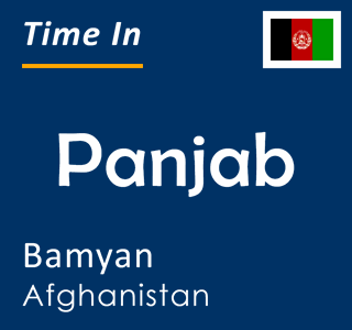 Current time in Panjab, Bamyan, Afghanistan