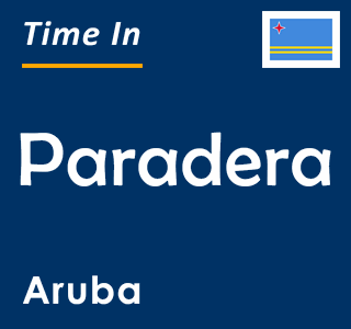 Current time in Paradera, Aruba