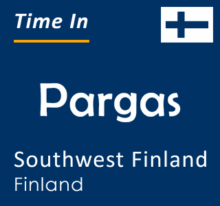 Current time in Pargas, Southwest Finland, Finland