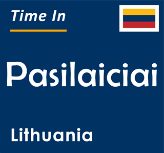 Current time in Pasilaiciai, Lithuania