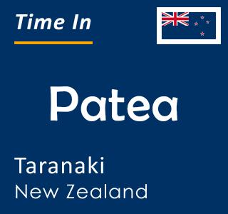 Current time in Patea, Taranaki, New Zealand