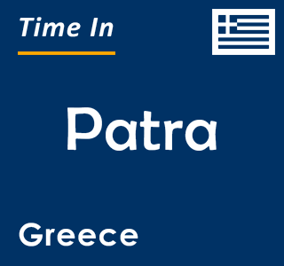 Current time in Patra, Greece
