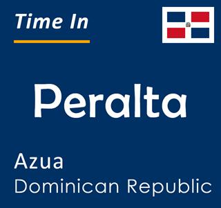 Current time in Peralta, Azua, Dominican Republic