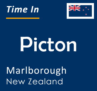 Current time in Picton, Marlborough, New Zealand