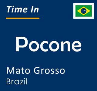 Current time in Pocone, Mato Grosso, Brazil