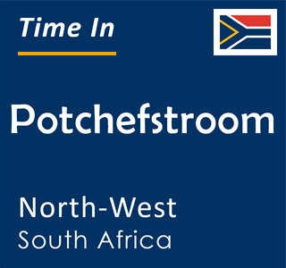 Current time in Potchefstroom, North-West, South Africa