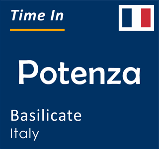 Current time in Potenza, Basilicate, Italy