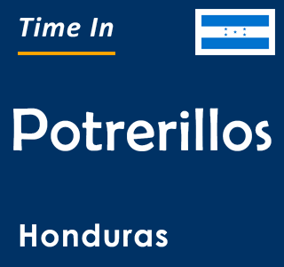 Current time in Potrerillos, Honduras