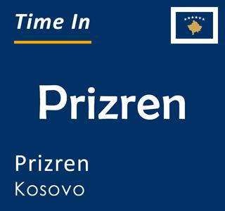Current time in Prizren, Prizren, Kosovo