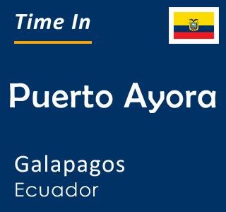 Current time in Puerto Ayora, Galapagos, Ecuador