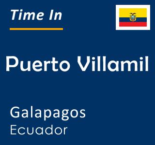 Current time in Puerto Villamil, Galapagos, Ecuador