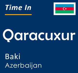 Current time in Qaracuxur, Baki, Azerbaijan