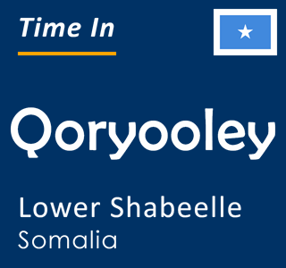 Current time in Qoryooley, Lower Shabeelle, Somalia
