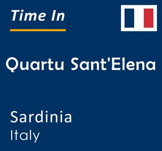 Current time in Quartu Sant'Elena, Sardinia, Italy