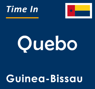 Current time in Quebo, Guinea-Bissau
