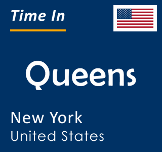 Current time in Queens, New York, United States