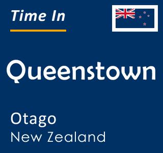 Current time in Queenstown, Otago, New Zealand