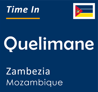 Current time in Quelimane, Zambezia, Mozambique