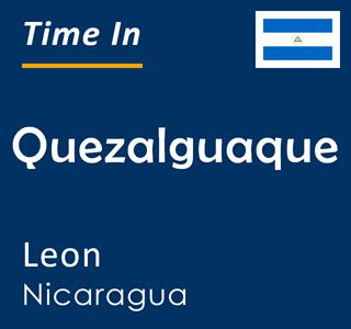 Current time in Quezalguaque, Leon, Nicaragua