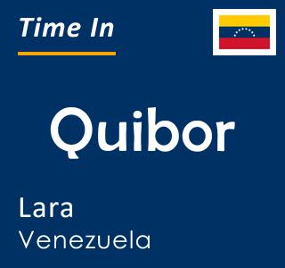 Current time in Quibor, Lara, Venezuela