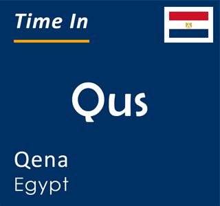 Current time in Qus, Qena, Egypt