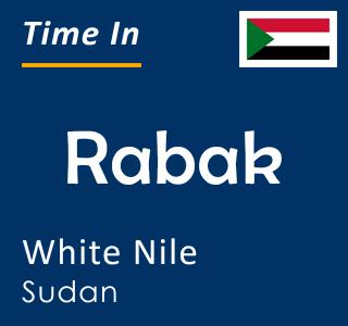 Current time in Rabak, White Nile, Sudan