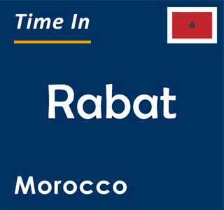 Current time in Rabat, Morocco