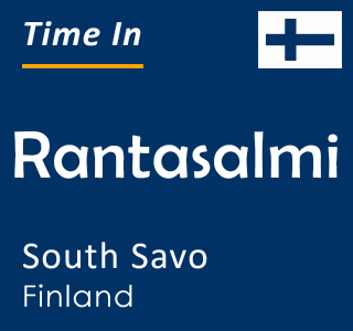 Current time in Rantasalmi, South Savo, Finland