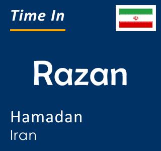 Current time in Razan, Hamadan, Iran