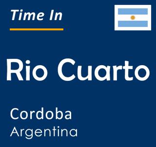 Current time in Rio Cuarto, Cordoba, Argentina