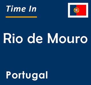 Current time in Rio de Mouro, Portugal