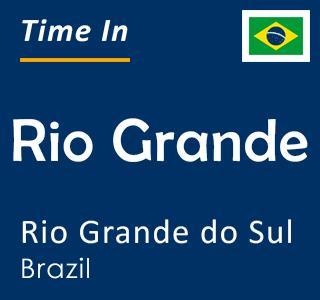 Current time in Rio Grande, Rio Grande do Sul, Brazil