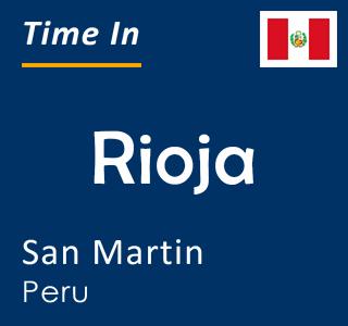 Current time in Rioja, San Martin, Peru