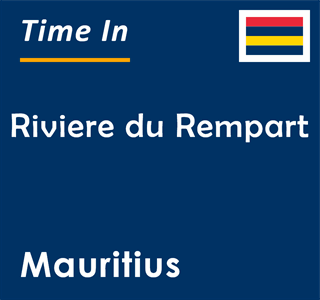 Current time in Riviere du Rempart, Mauritius