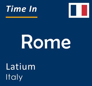 Current time in Rome, Latium, Italy