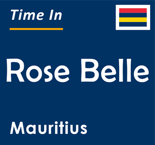 Current time in Rose Belle, Mauritius