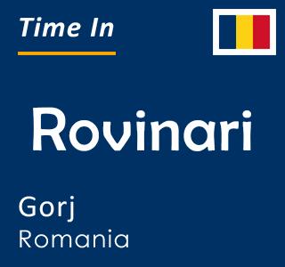 Current time in Rovinari, Gorj, Romania