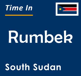 Current time in Rumbek, South Sudan