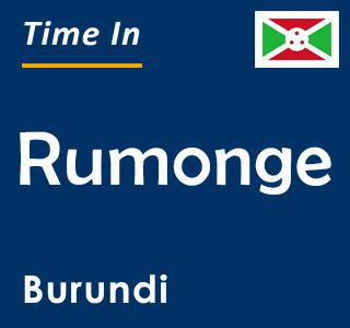 Current time in Rumonge, Burundi